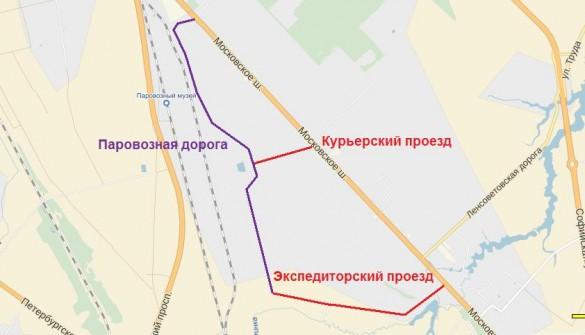 Схема улиц в Шушарах