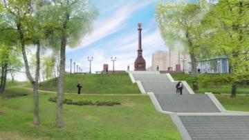 Стела Город воинской славы в Ломоносове, проект
