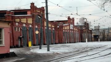 Восточная половина трамвайного парка