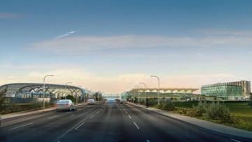 Вид на вокзал аэроэкспресса