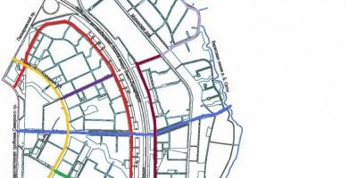 Цветной город, названия улиц, схема