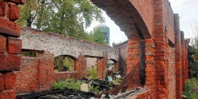 Руины пакгауза Варшавского вокзала