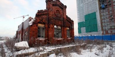 Торец пакгауза Варшавского вокзала