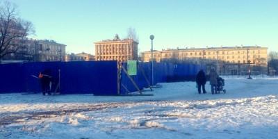 Забор в Ломоносовском саду