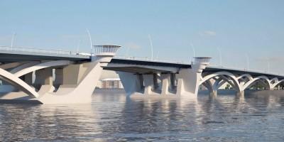 Большой Смоленский мост, первый тип