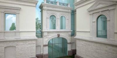 Стеклянная стена Нижней дачи