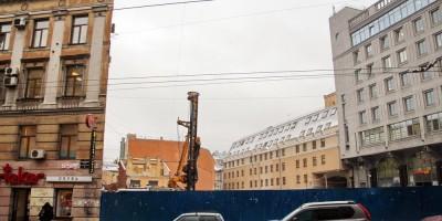 Стройплощадка дома Рогова