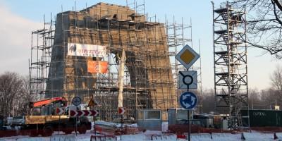 Строительство Арки Победы в Красном Селе