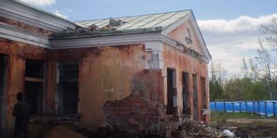 Заброшенное здание столовой в Лисьем Носу