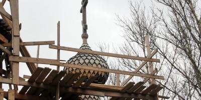 Деревянный купол церкви Василия Великого