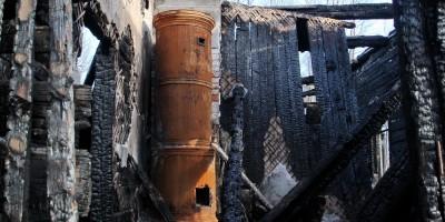 Печь после пожара