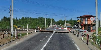 Переезд на Новом шоссе в Белоострове