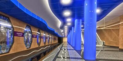 Подземный зал станции Дунайская