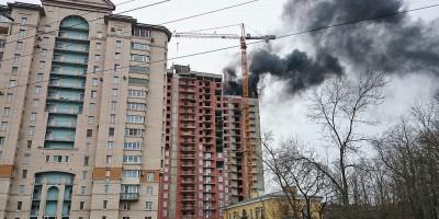 Пожар на Московском шоссе