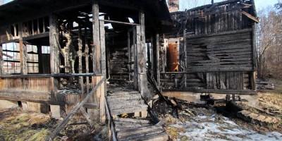 Пожар на Ивановской улице в Мартышкине