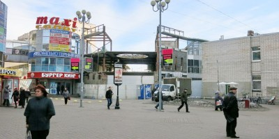 Снос торгового центра у Приморской