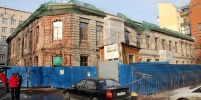 Улица Маяковского, ремонт дома