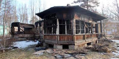 Ивановская улица, 4, Мартышкино, после пожара