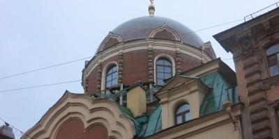 Купол Иоанно-Богословской церкви на Некрасова