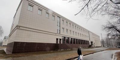 Боковой фасад нового корпуса Политеха