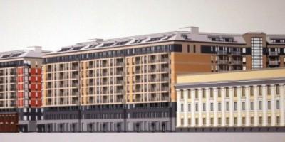 Фасады жилого комплекса Илматар вдоль 25-й линии