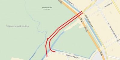 Новая трасса Шуваловского проспекта