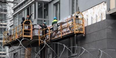 Отделочные работы на фасаде дома на Московском