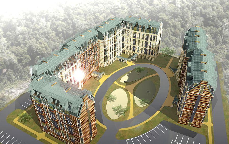 Проект жилого комплекса возле Южно-Приморского парка