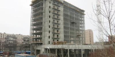 Стройка бизнес-центра на Тухачевского