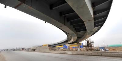 Строительство путепровода в Московской Славянке
