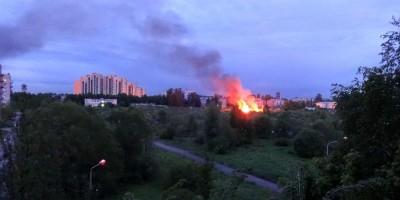 Пожар, садоводство Нева в Металлострое