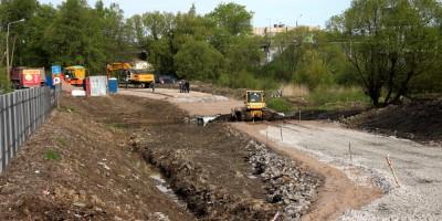 Строительство объезда Старо-Пановского моста
