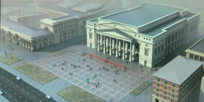 Вид на будущий театр Эйфмана со стороны проспекта Добролюбова