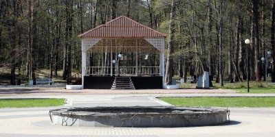 Эстрада и фонтан в Зеленогорском парке