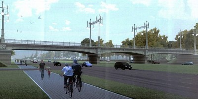 Железнодорожный путепровод над Пулковским шоссе