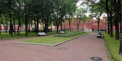 Кронштадт, Романовский сквер, аллеи
