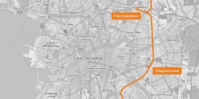 Схема трассы городской электрички Петербурга