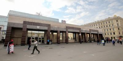 Станция метро Спасская, наземный вестибюль на Сенной площади