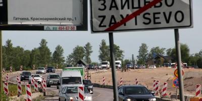 Зайцево, временный объезд Киевского шоссе