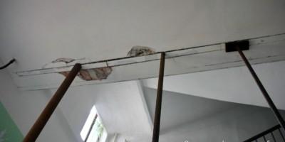 Дом на 6-й линии, укрепили конструкции