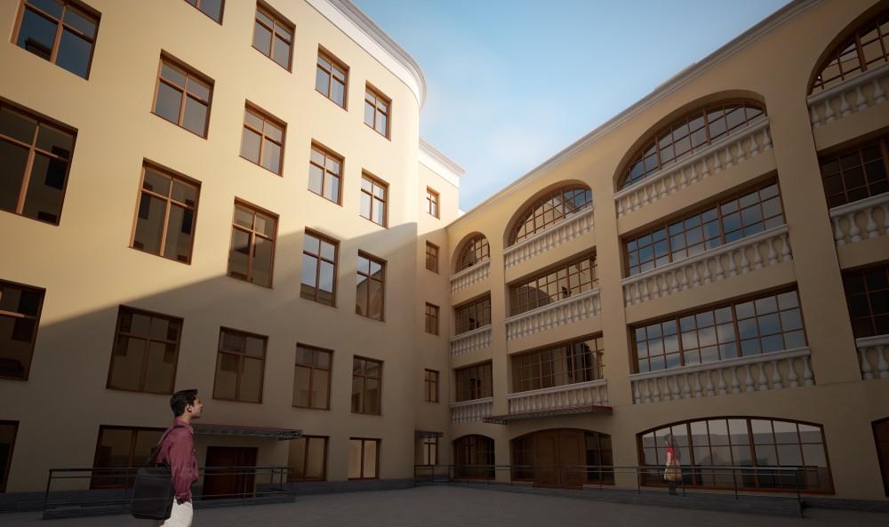 Двор дома на Садовой, 73