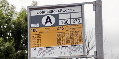 Остановка Соболевская дорога