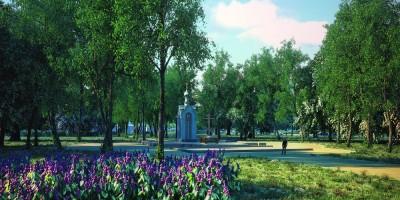 Парк на Митрофаньевском кладбище, часовня