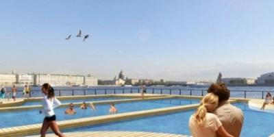 Пляж Петропавловской крепости с бассейном