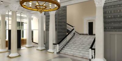 Союзпушнина, сталинская лестница