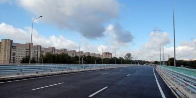 Новый путепровод над Пискаревским проспектом