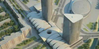 Проект комплекса Icebridge на улице Коллонтай