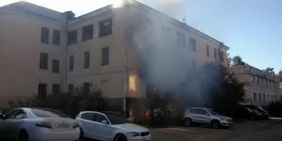 Пушкин, пожар на бумажной фабрике на Набережной улице