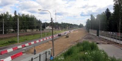 Репино, реконструкция Зеленогорского шоссе