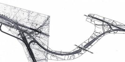 Схема путепровода возле Белоострова
